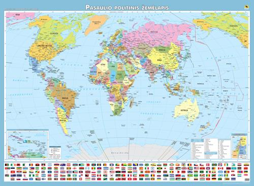 Pasaulio žemėlapis lietuvių kalba